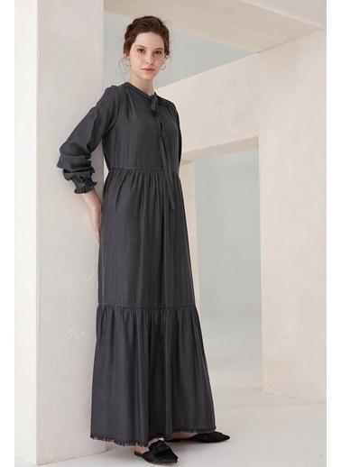 Vivencia Fermuar Detaylı Kadın Elbise Füme Füme